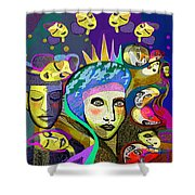 2355 Another Queen  2017 Shower Curtain