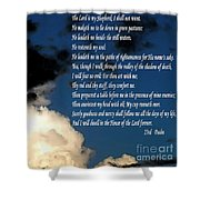 23rd Psalm Shower Curtain
