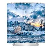 Beautiful Nature And Scenery Around Snowshoe Ski Resort In Cass  Shower Curtain