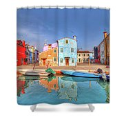 Burano Venice Italy Shower Curtain