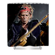 Keith Richards Collection Shower Curtain