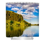 Landscape Wall Shower Curtain