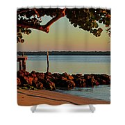 24- Morning In North Palm Beach Shower Curtain