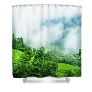 Mountain Scenery In Mist Shower Curtain