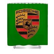 Porsche Label Shower Curtain