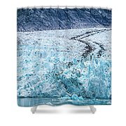 Sawyer Glacier At Tracy Arm Fjord In Alaska Panhandle Shower Curtain