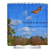 240- Antoine De Saint Exupery Shower Curtain