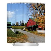248 New Bedford Hillside Shower Curtain