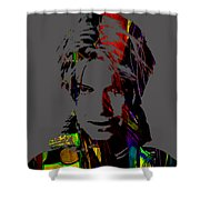 David Bowie Collection Shower Curtain