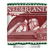 Old Dutch Postage Stamp Shower Curtain