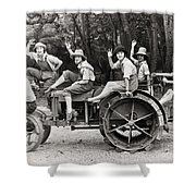 Silent Film: Automobiles Shower Curtain by Granger