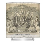 25-year Reign Of William IIi King Of The Netherlands, In 1874, Anonymous, After Hendrik Jan Van Lumm Shower Curtain