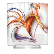 252-hearts In Love Shower Curtain