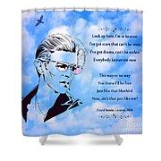 256- David Bowie Shower Curtain