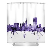 San Francisco City Skyline Shower Curtain