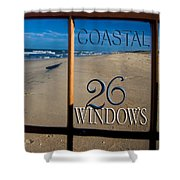 26 Windows Coastal Shower Curtain