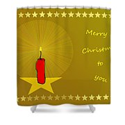 2610 Merry Christmas To You 2018 Shower Curtain