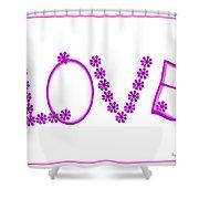 2612 Love 2018 Shower Curtain