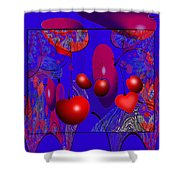 2613 Cherry Fractal 2018 Shower Curtain