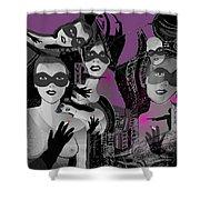 2616 Ladies Masks Man Weapons 2018 Shower Curtain