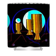 2664 Golden Goblets Patterns 2018 Shower Curtain