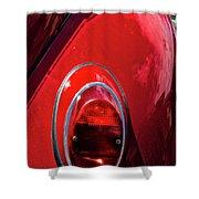 2665- Red Volkswagen  Shower Curtain