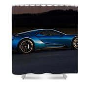 269243 Car Ford Gt Race Tracks Shower Curtain