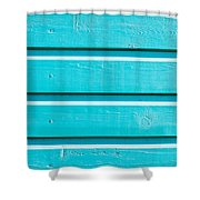 Blue Wood Shower Curtain