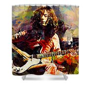 Jimmy Page. Led Zeppelin. Shower Curtain