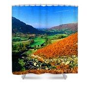 Path Landscape Light Shower Curtain