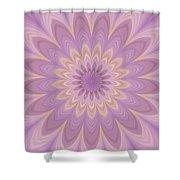 Psycho Hypno Floral Pattern Shower Curtain