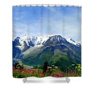 R F Landscape Shower Curtain