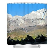 The Plateau Scenery Shower Curtain