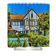 271 - Capitola Village 4 Hdr Shower Curtain
