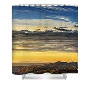 Allegheny Mountain Sunrise Shower Curtain