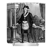 Benjamin Franklin (1706-1790) Shower Curtain