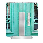 Blue Door Shower Curtain