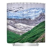 Glacier And Mountains Landscapes In Wild And Beautiful Alaska Shower Curtain