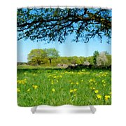Landscapes Oil Painting Shower Curtain