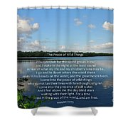 282- The Peace Of Wild Things Shower Curtain