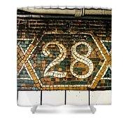 28th Street Shower Curtain