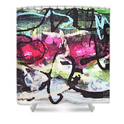 Abstract Landscape Painting Shower Curtain
