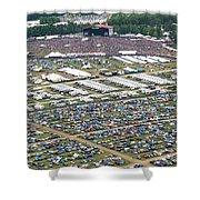 Bonnaroo Music Festival Aerial Photography Shower Curtain