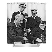Franklin Delano Roosevelt Shower Curtain