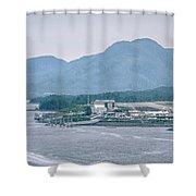 Scenery Around Alaskan Town Of Ketchikan Shower Curtain