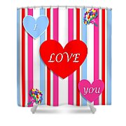 Valentines Shower Curtain