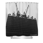 World Trade Center Under Construction 1967 Shower Curtain
