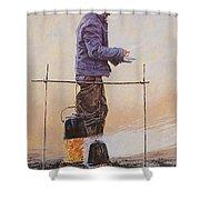 29415 Jesus Helguera Ausencia Shower Curtain