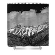 2d07509-bw High Peaks In Lost River Range Shower Curtain