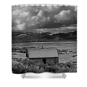 2d07515-bw Abandoned Cabin Shower Curtain